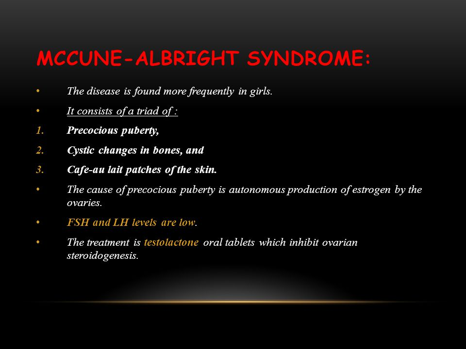 McCune-Albright Syndrome: