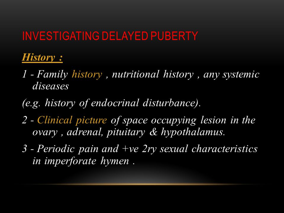 Investigating Delayed Puberty