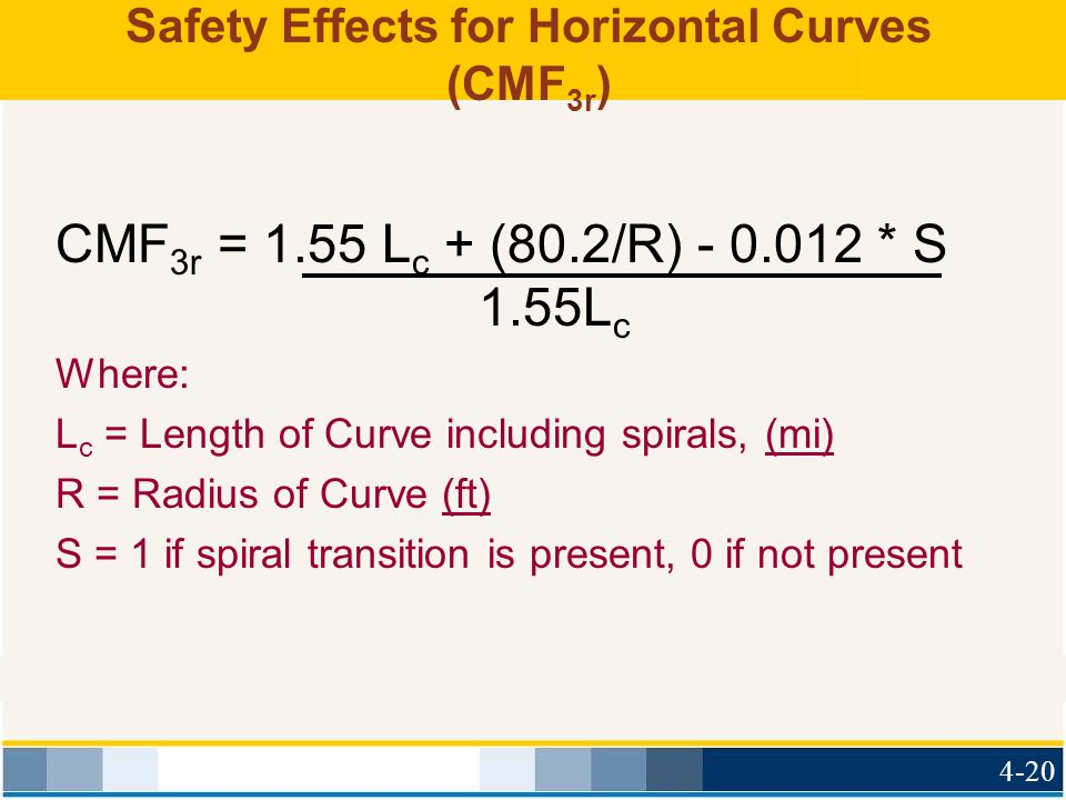 Safety Effects for Horizontal Curves (CMF3r)