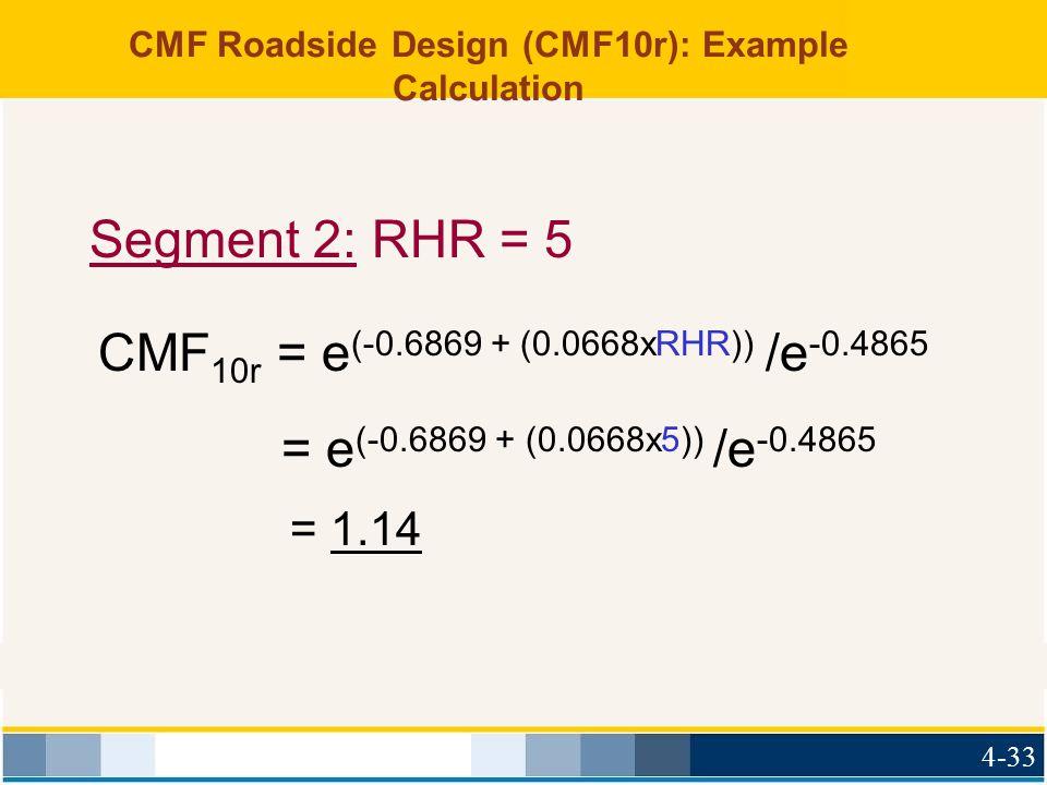 CMF Roadside Design (CMF10r): Example Calculation