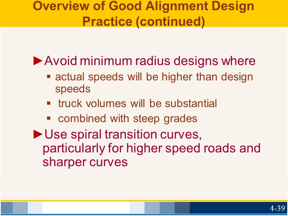 Overview of Good Alignment Design Practice (continued)
