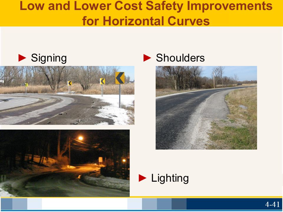 Low and Lower Cost Safety Improvements for Horizontal Curves