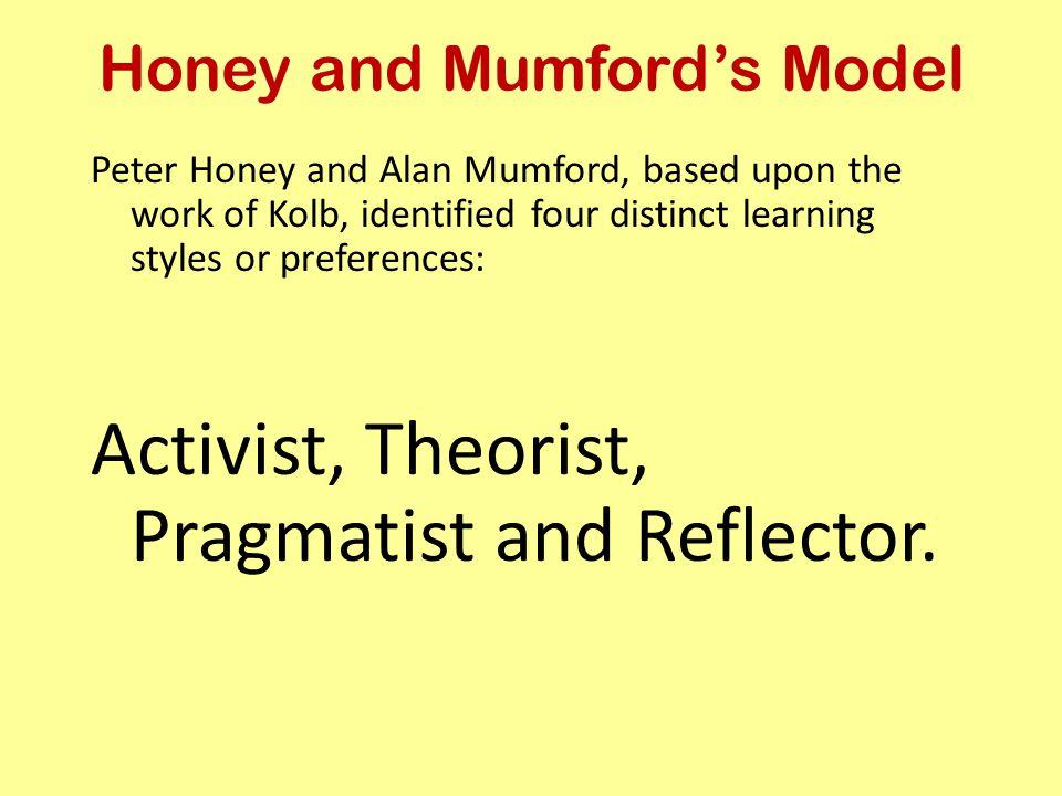 Honey and Mumford's Model
