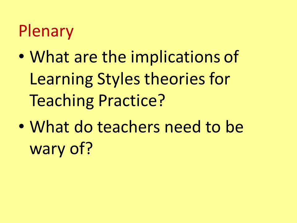 What do teachers need to be wary of