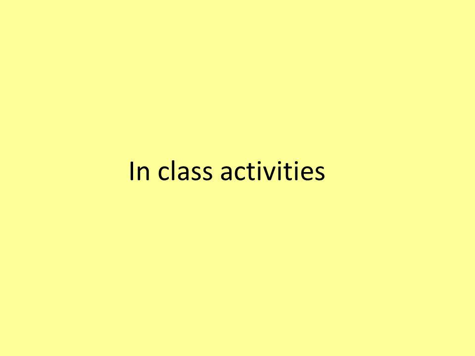 In class activities