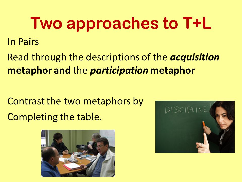 Two approaches to T+L