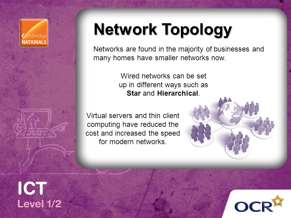 Network Topology Networks are found in the majority of businesses and many homes have smaller networks now.