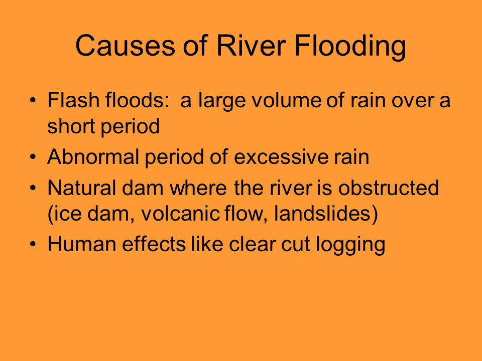 Causes of River Flooding