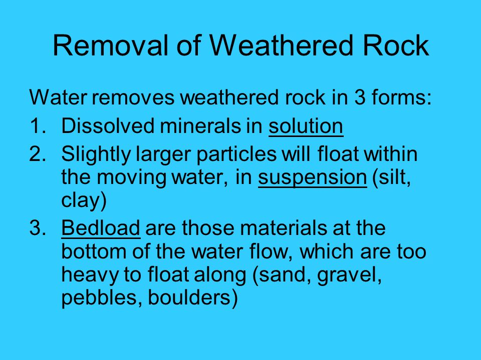 Removal of Weathered Rock