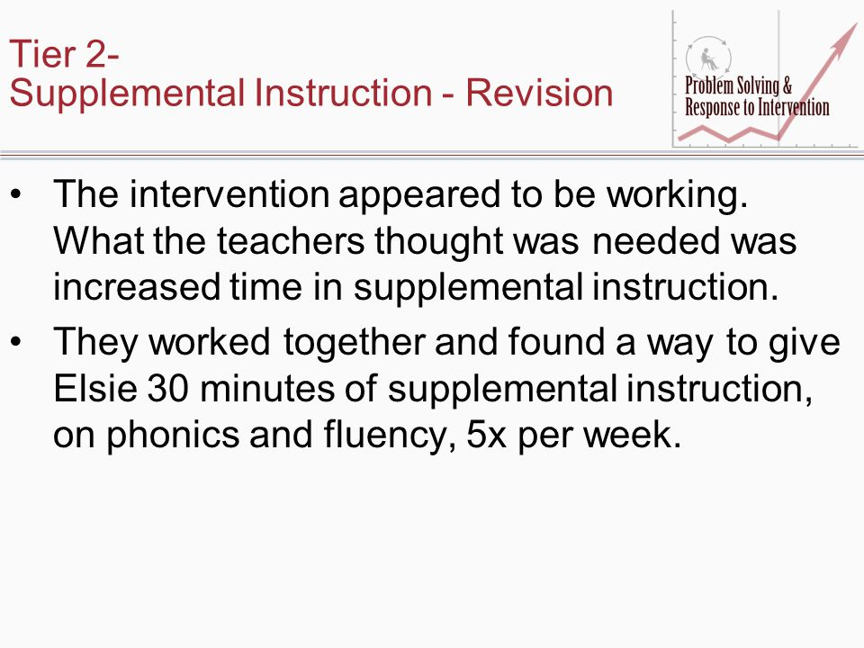 Tier 2- Supplemental Instruction - Revision