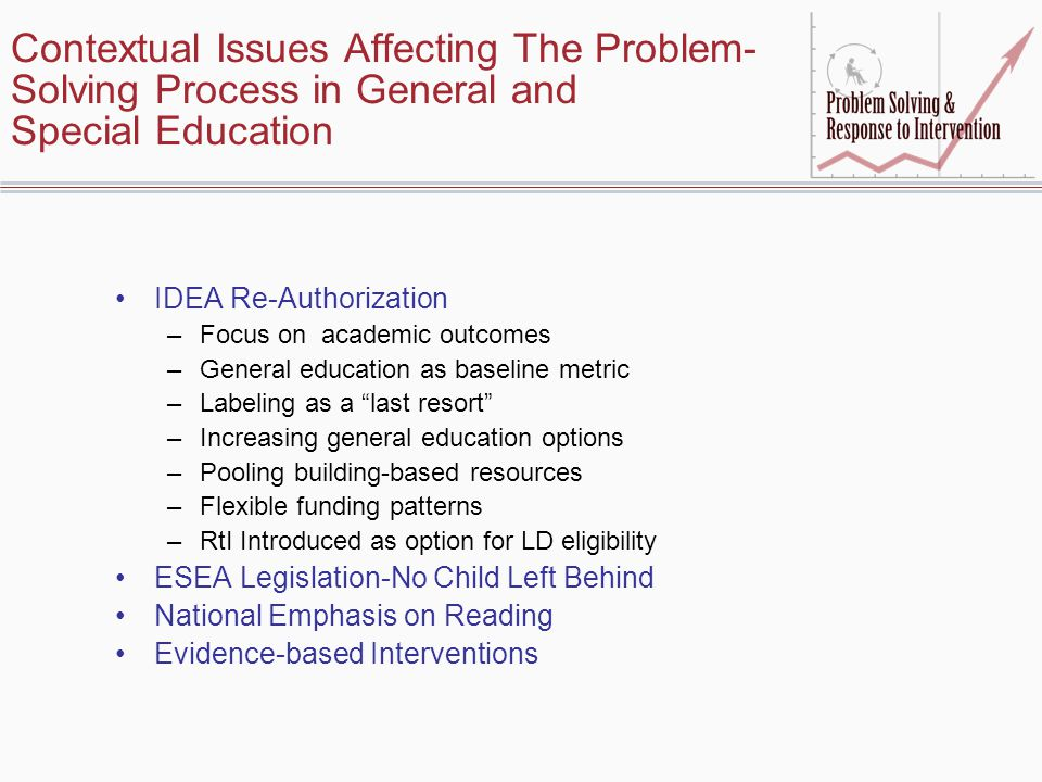 Contextual Issues Affecting The Problem-Solving Process in General and Special Education