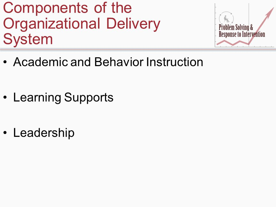 Components of the Organizational Delivery System