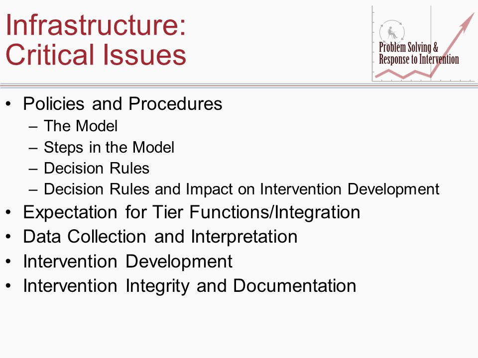 Infrastructure: Critical Issues