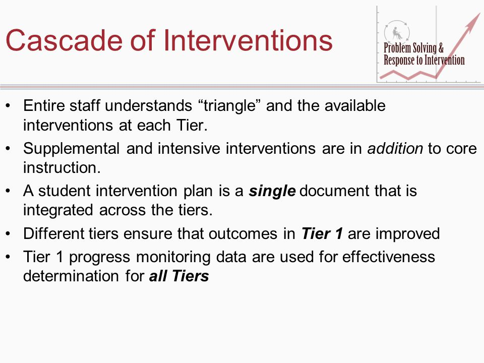 Cascade of Interventions