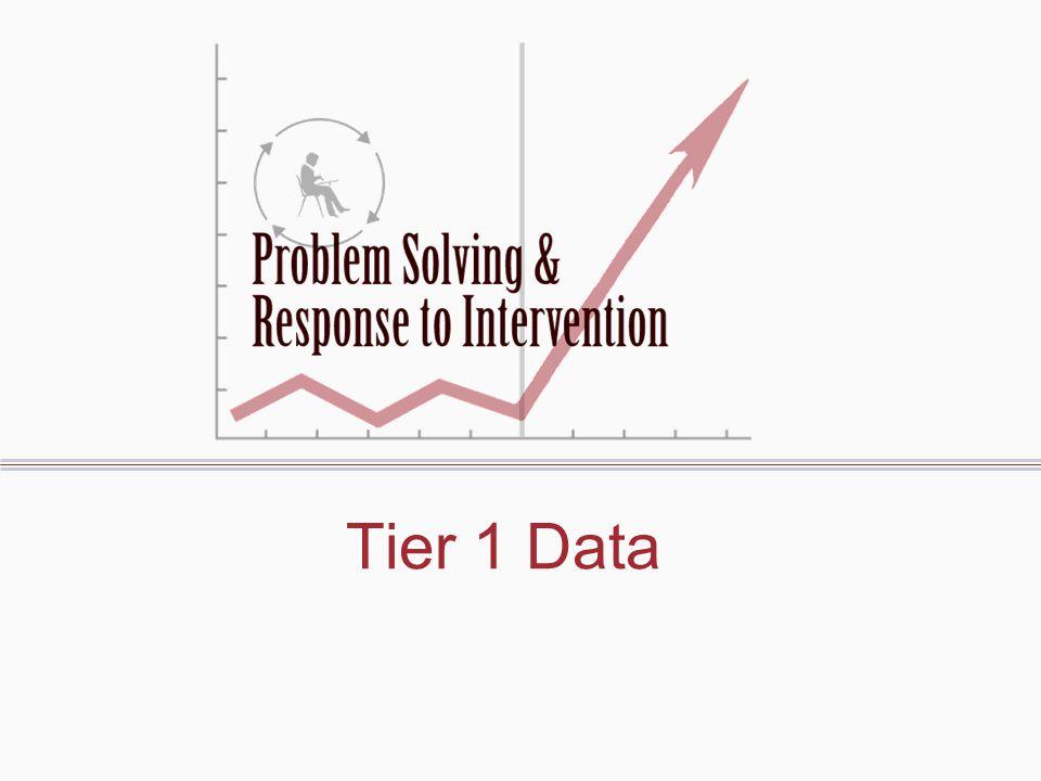 Tier 1 Data