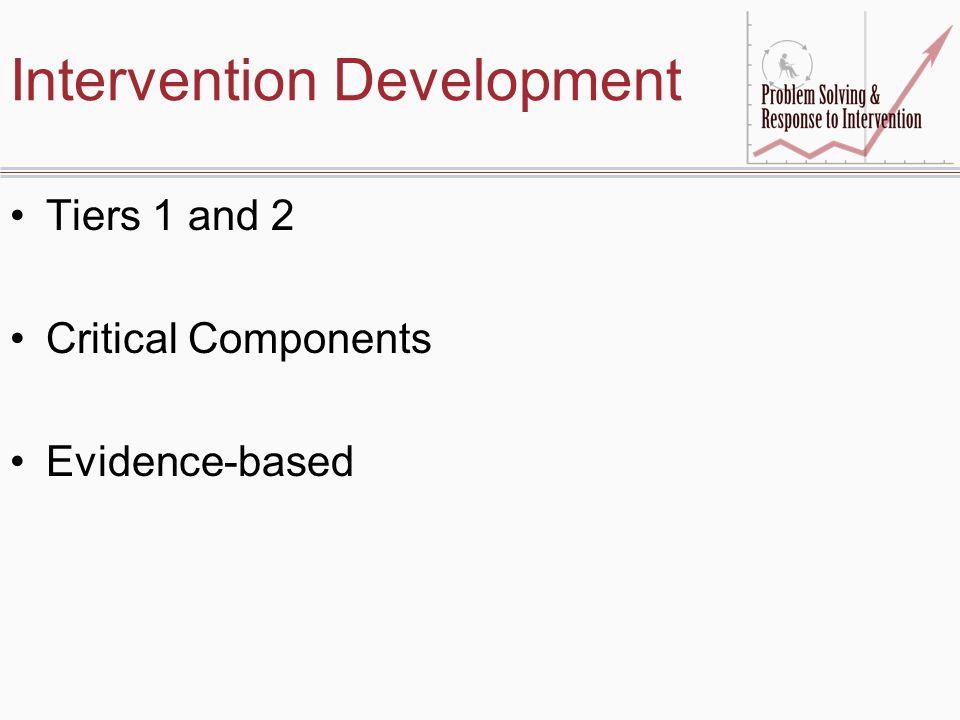 Intervention Development