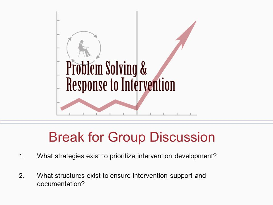 Break for Group Discussion
