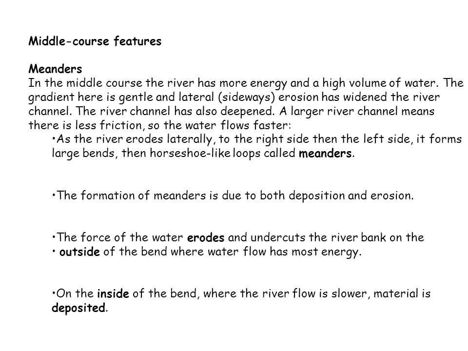 River Processes and Landforms. - ppt video online download