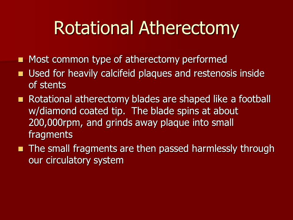 Rotational Atherectomy