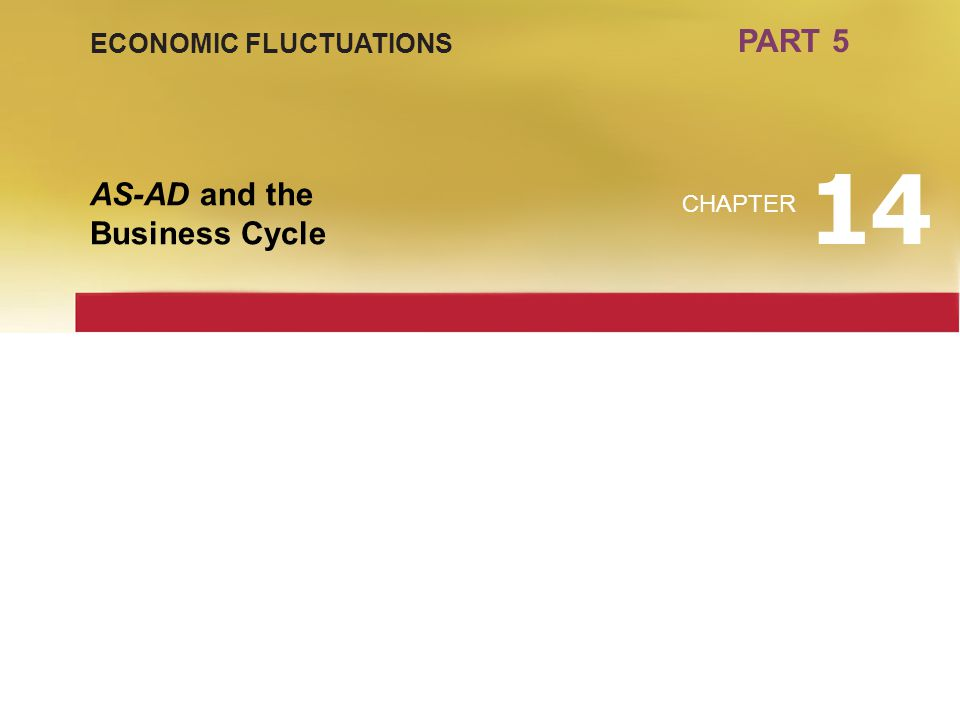 PART 5 ECONOMIC FLUCTUATIONS 14 AS-AD and the Business Cycle CHAPTER