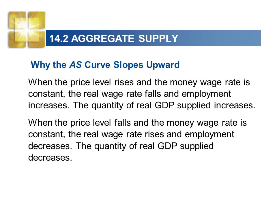 14.2 AGGREGATE SUPPLY Why the AS Curve Slopes Upward