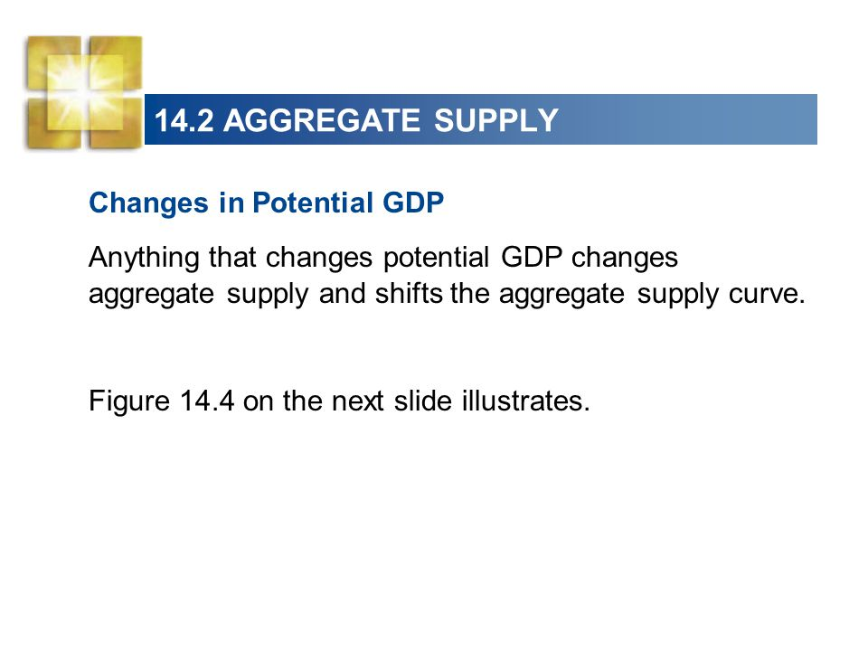 14.2 AGGREGATE SUPPLY Changes in Potential GDP