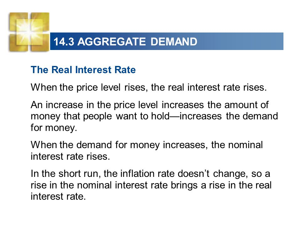 14.3 AGGREGATE DEMAND The Real Interest Rate