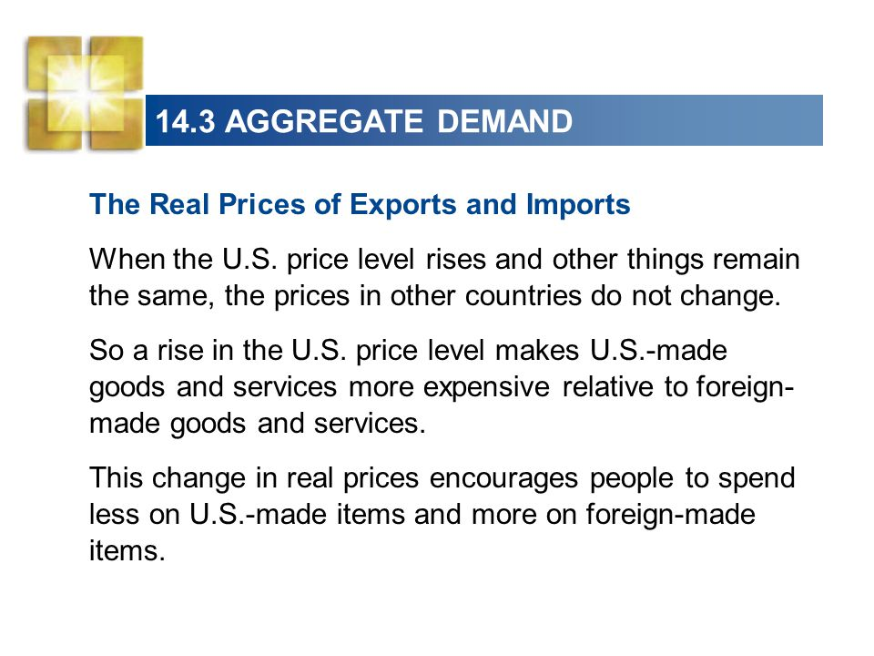 14.3 AGGREGATE DEMAND The Real Prices of Exports and Imports