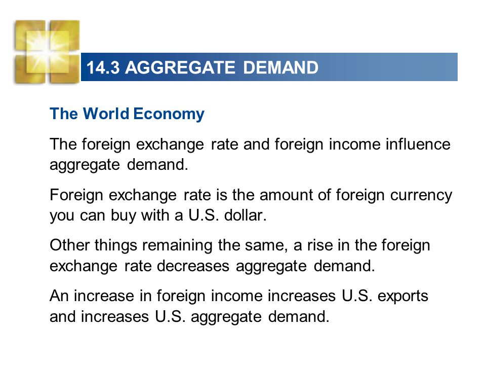14.3 AGGREGATE DEMAND The World Economy
