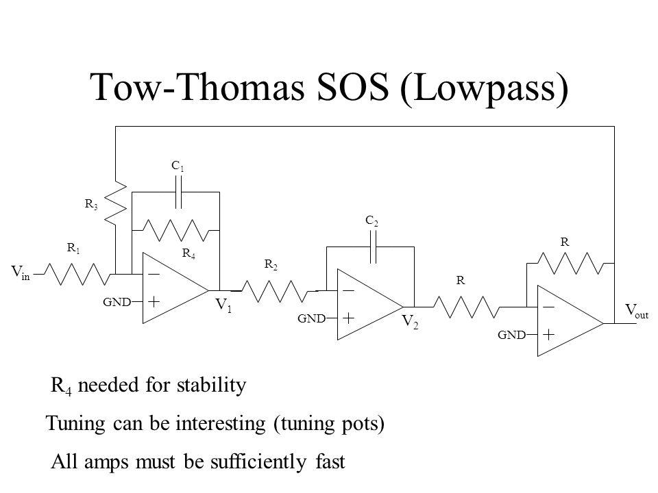 Tow-Thomas SOS (Lowpass)