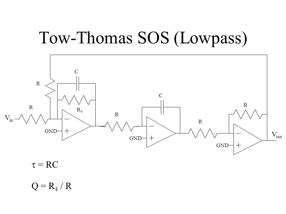 Tow-Thomas SOS (Lowpass)