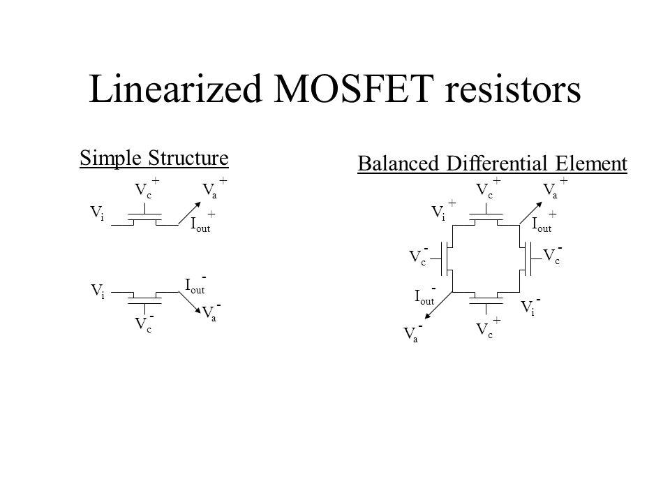 Linearized MOSFET resistors