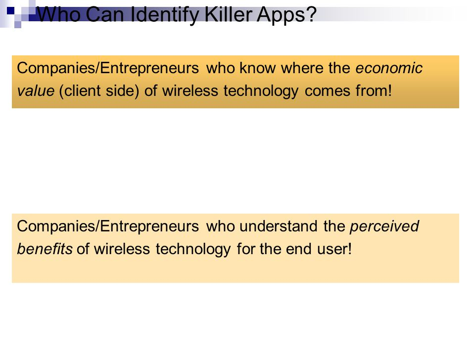 Who Can Identify Killer Apps