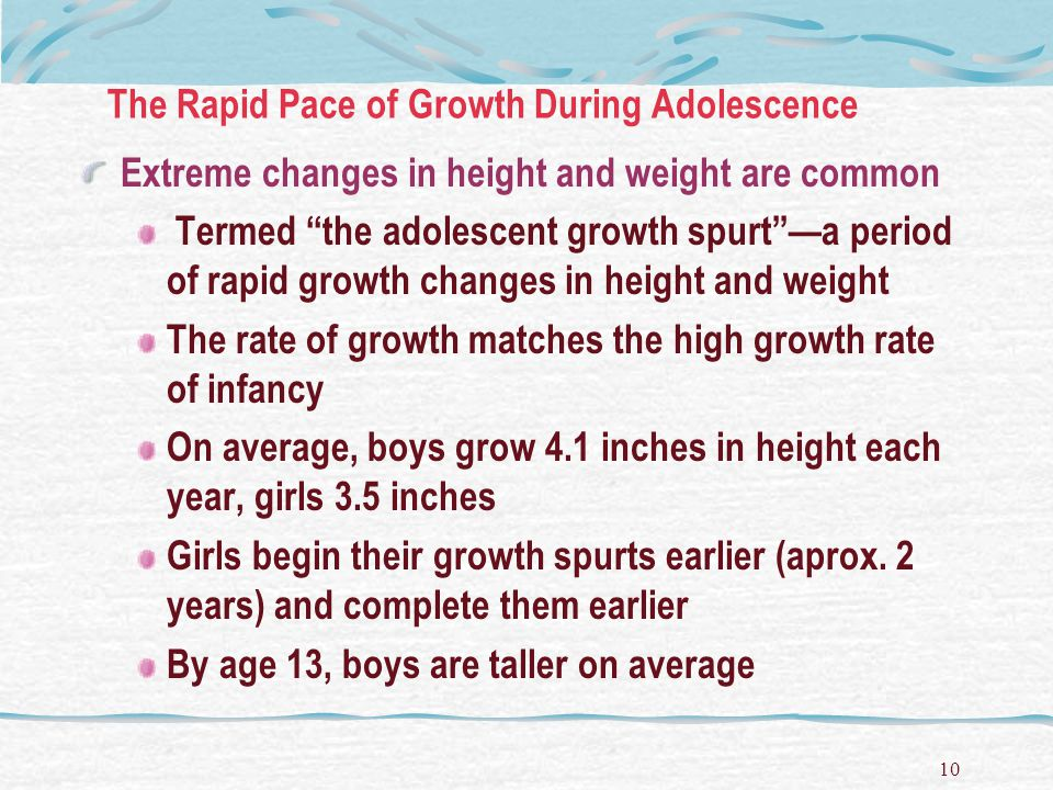 The Rapid Pace of Growth During Adolescence