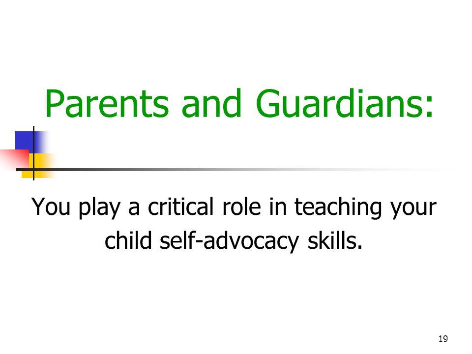 Parents and Guardians: