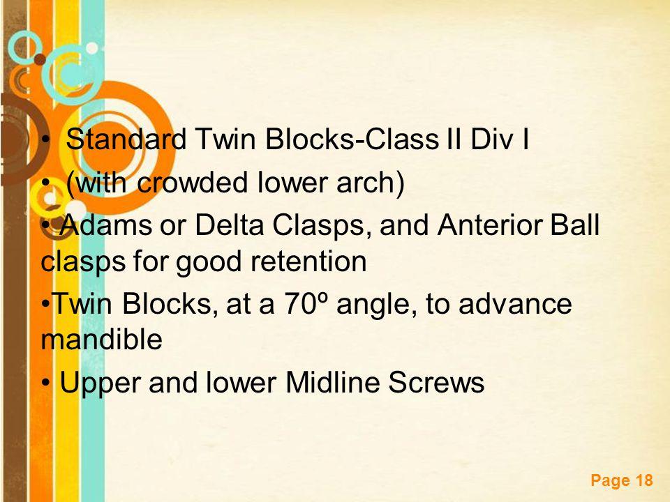 Standard Twin Blocks-Class II Div I