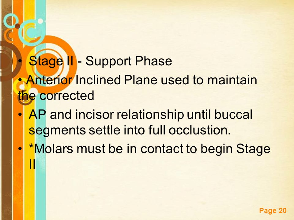 Stage II - Support Phase