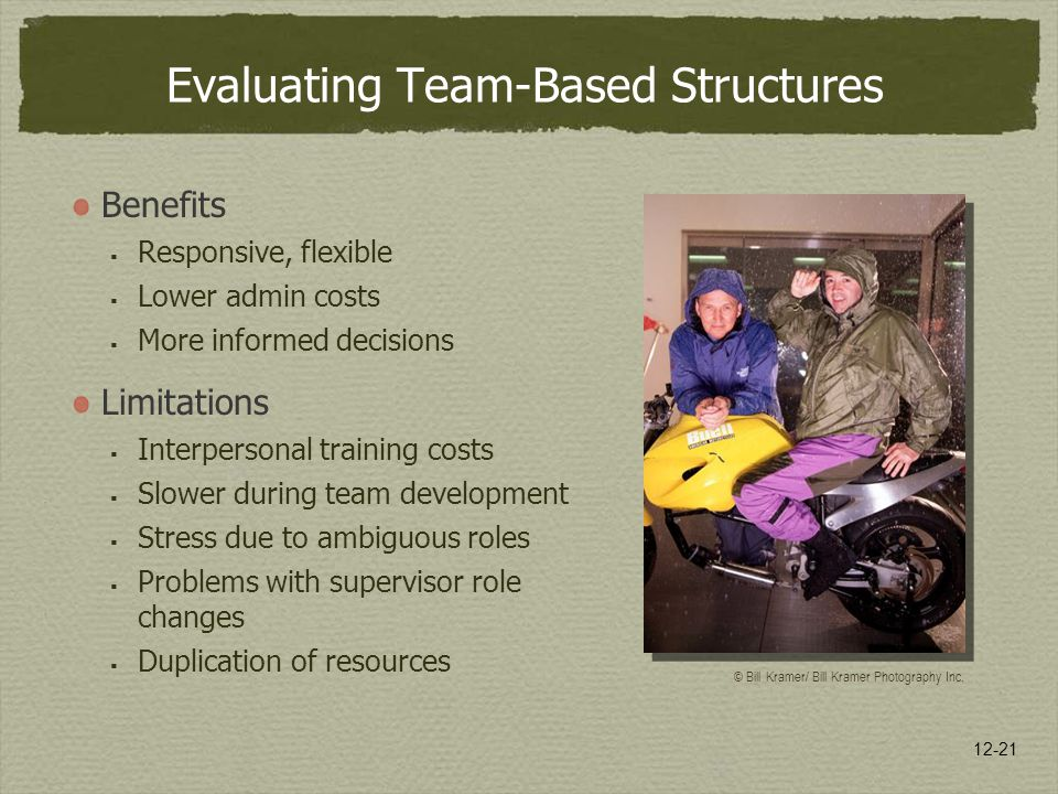 Evaluating Team-Based Structures
