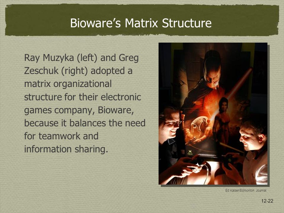 Bioware's Matrix Structure