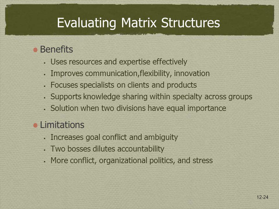Evaluating Matrix Structures