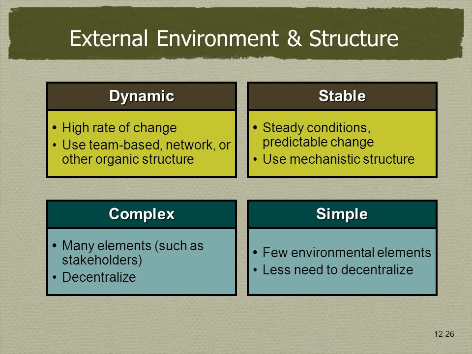 External Environment & Structure