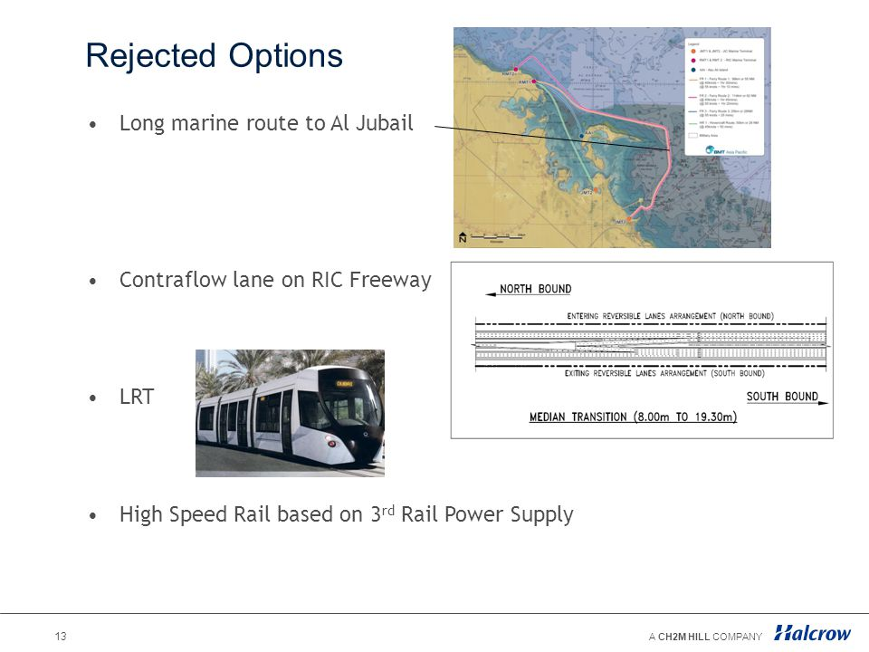 Rejected Options Long marine route to Al Jubail