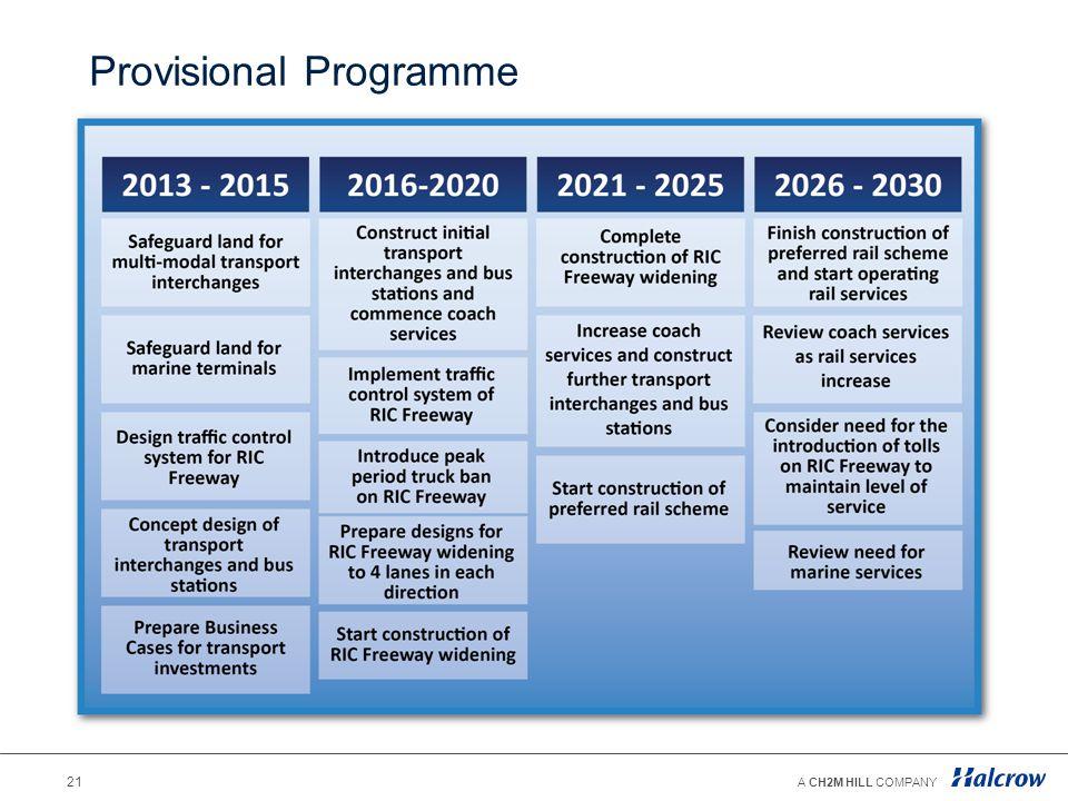 Provisional Programme