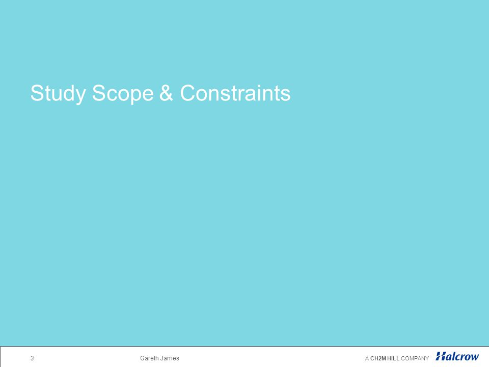 Study Scope & Constraints