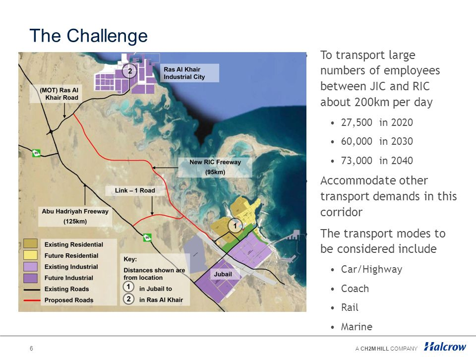 The Challenge To transport large numbers of employees between JIC and RIC about 200km per day. 27,500 in 2020.