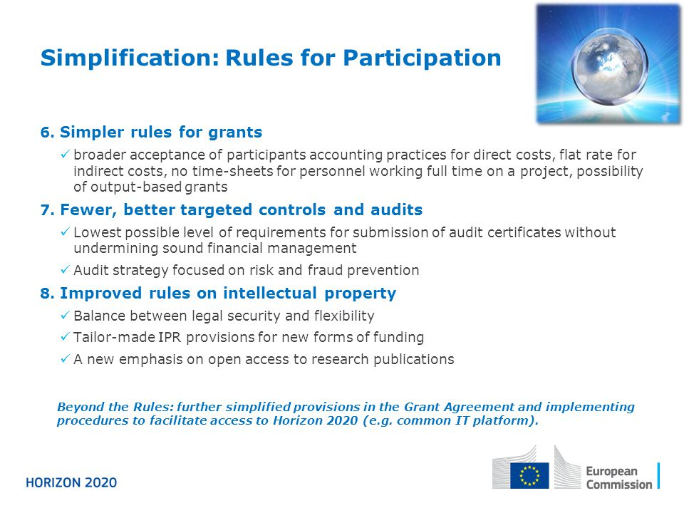 Simplification: Rules for Participation