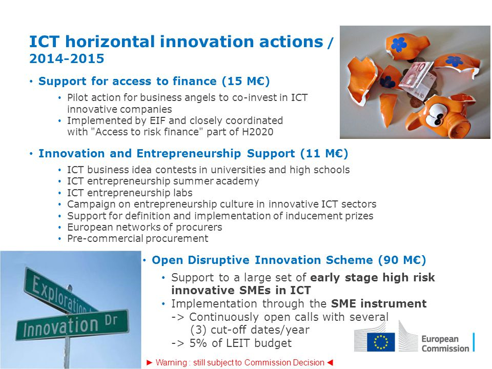 ICT horizontal innovation actions / 2014-2015