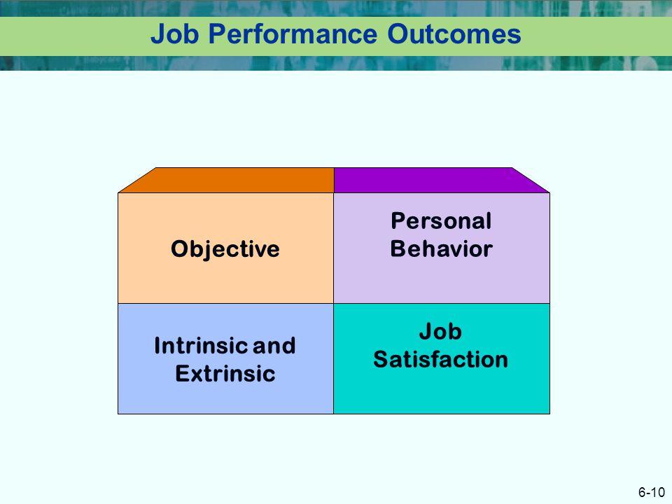 Job Performance Outcomes