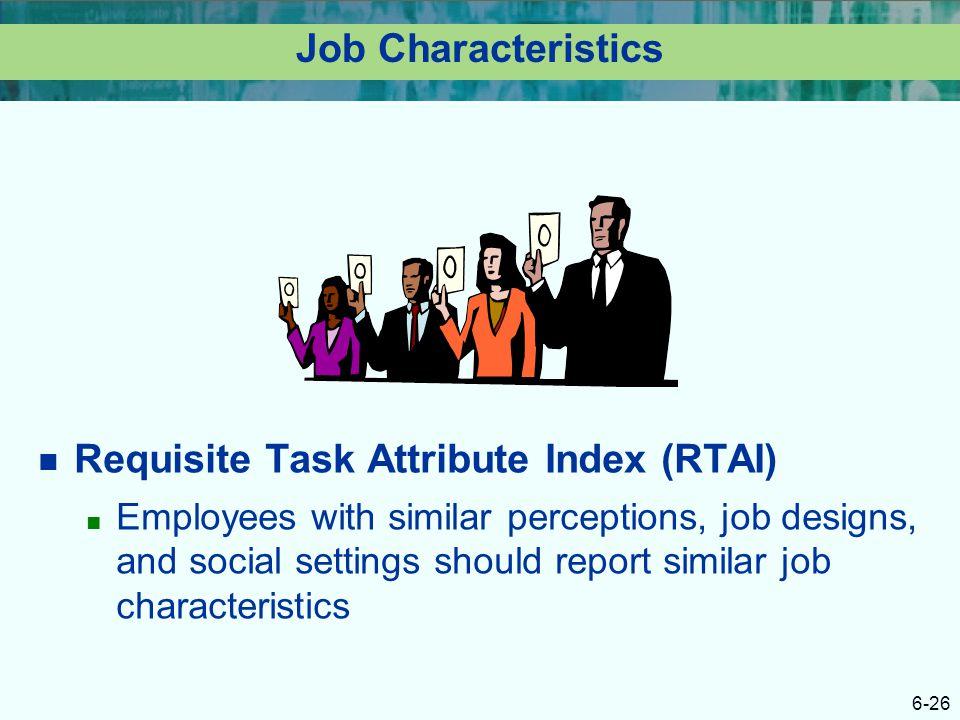 Requisite Task Attribute Index (RTAI)