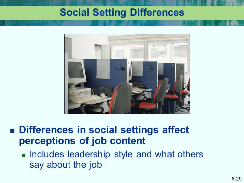 Social Setting Differences